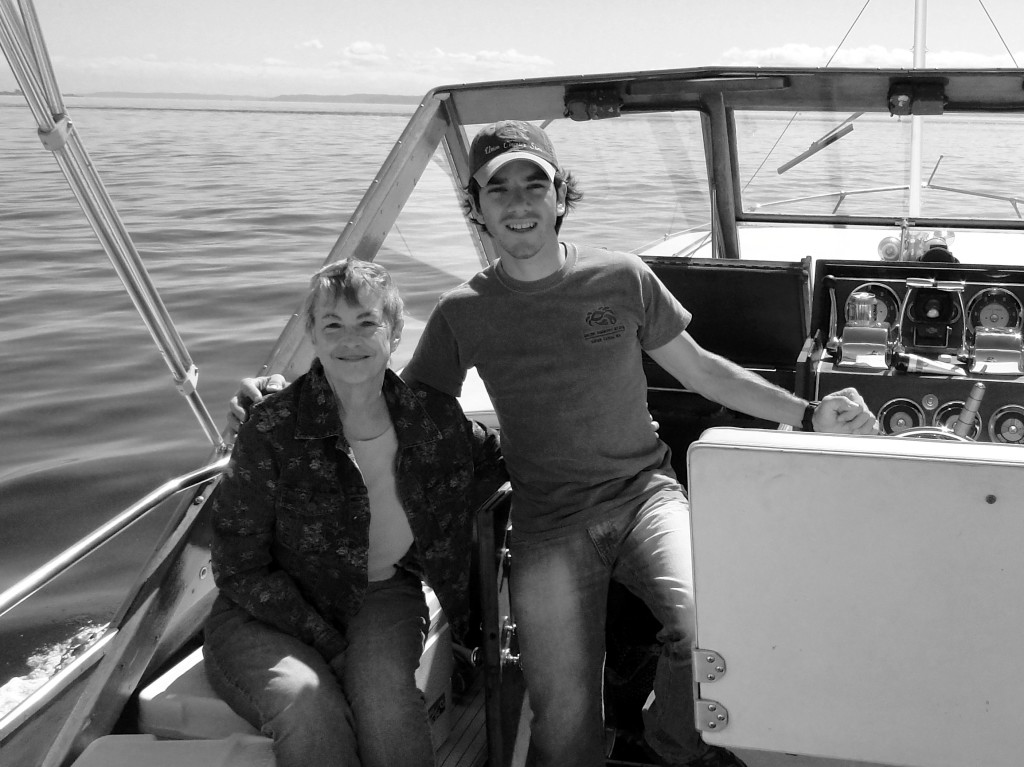 My friend with Early onset Alzheimer's disease on a boat