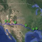Atravessando os EUA de carro. Parte 1