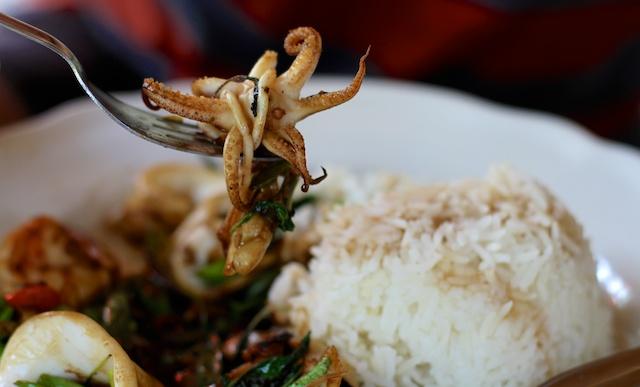 Alguns frutos do mar típicos na Ásia