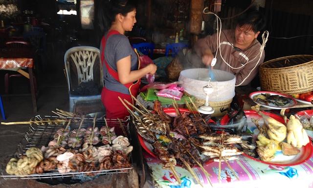 Churrasquinho exótico no Laos