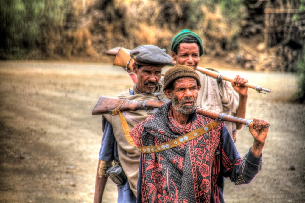 Homens armados na Etiópia