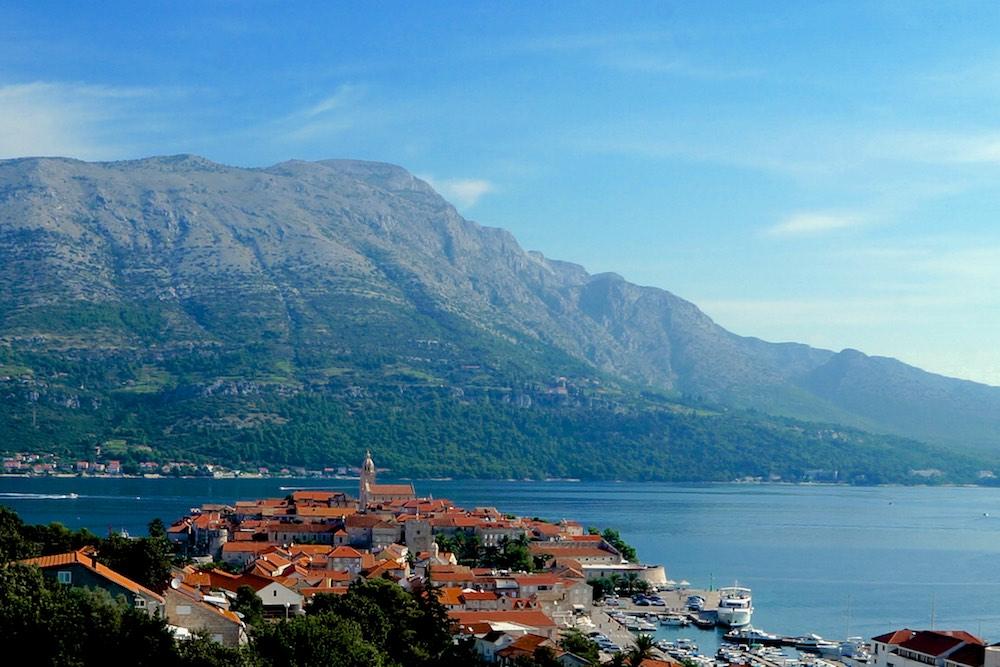 vista da ilha de Korcula, Croácia