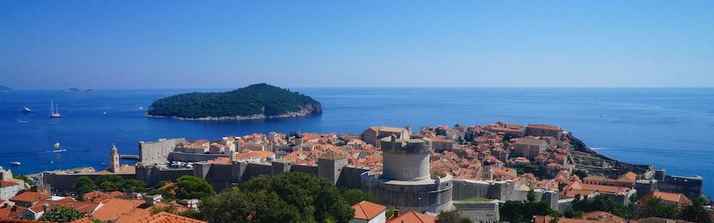 A cidade murada de Dubrovinik, Croácia