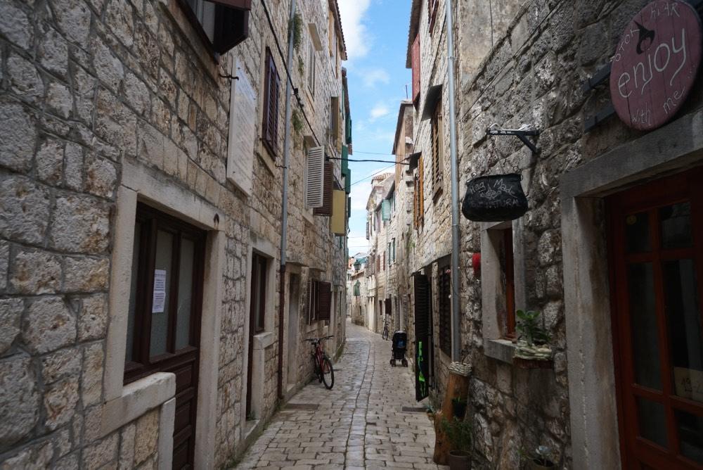 construções em Stari Grad, Hvar, Croácia