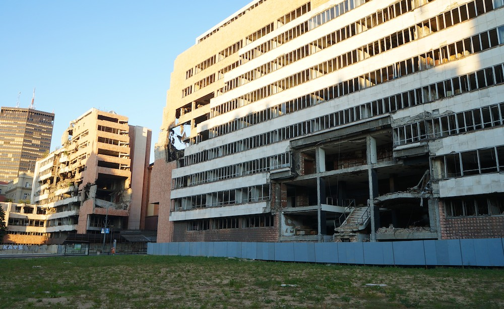 prédio bombardeado