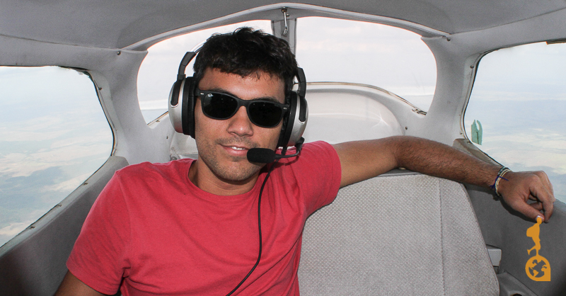 Rarfael in the cessna 172