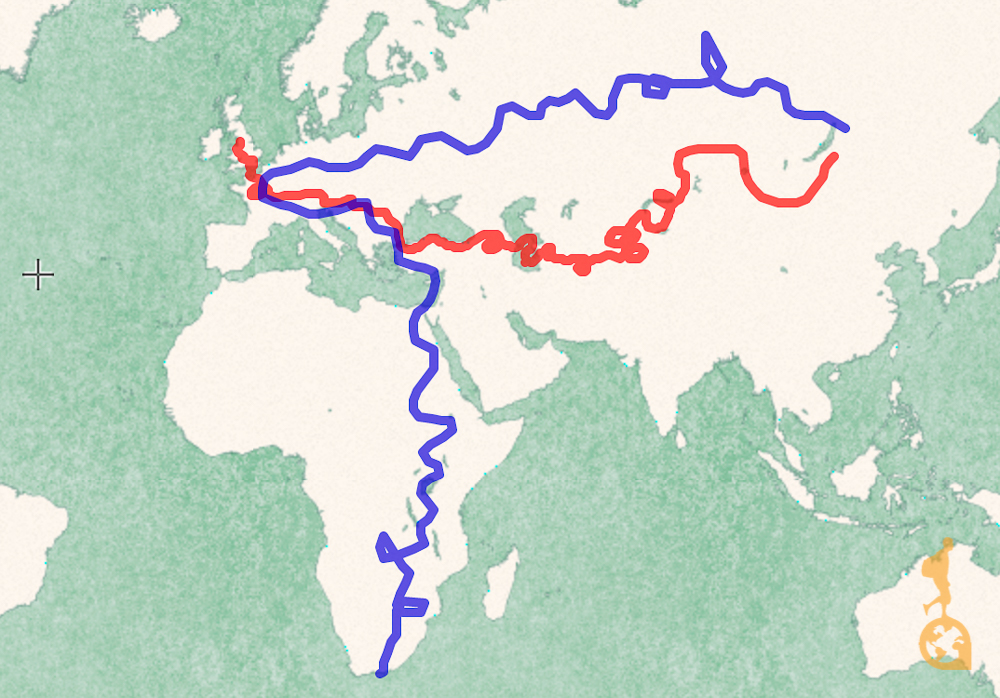 Rota após a linha de chegada do Mongol Rally